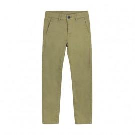 Παντελόνι λοξότσεπο slim fit Πράσινο