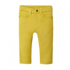 Παντελόνι μακρύ slim fit Λαδί