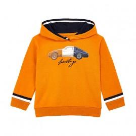 Φούτερ με κουκούλα αυτοκίνητο    πορτοκαλι