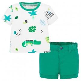 Σετ μπλούζα και παντελόνι κοντό Πράσινο Φύλλο