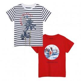 """Σετ 2 μπλουζες κοντομάνικες """"windsurf""""ιβισκος"""