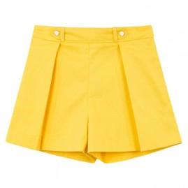 Παντελόνι κοντό σατέν Κίτρινο