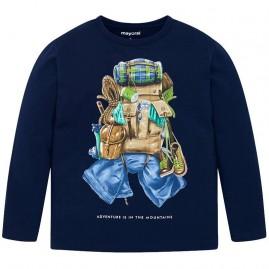 Μπλουζα μακρυμανικη τσαντα   μπλε