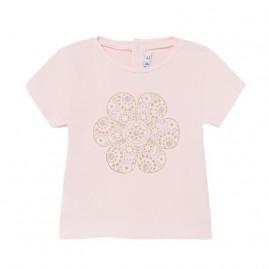 Μπλουζα κοντοµανικη βασικη ροζ