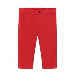Παντελόνι μακρύ βασικό καπαρτινέ κοκκινο