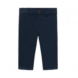 Παντελόνι μακρύ βασικό καπαρτινέ βαθυ μπλε