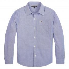 Πουκάμισο Tommy Hilfiger  Solid Oxford Shirt Γαλάζιο